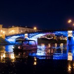Neris. Žvėryno tiltas naktį